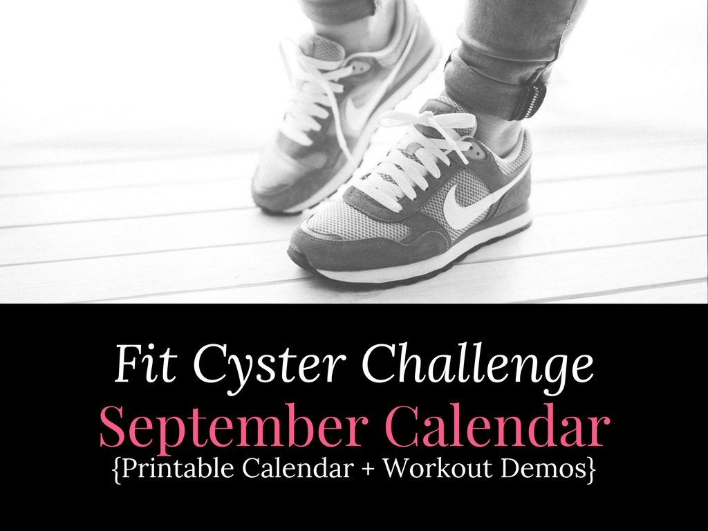 PCOS Workouts: September Fit Cyster Challenge Calendar + Exercise Demonstrations