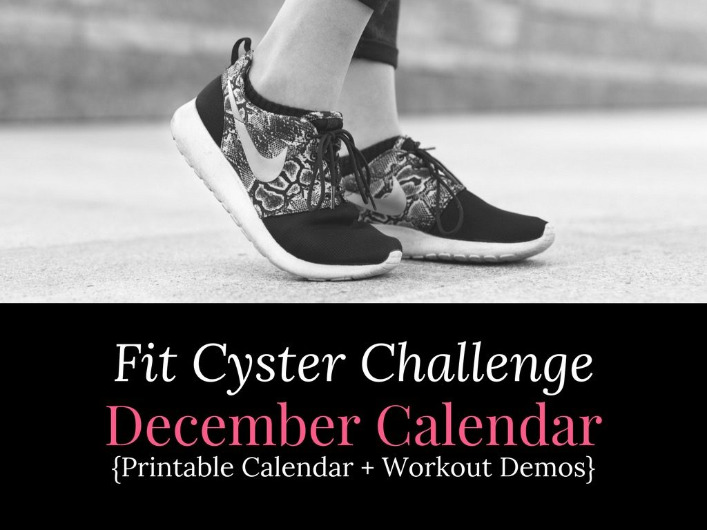 PCOS Workouts: December Fit Cyster Challenge Calendar + Exercise Demonstrations