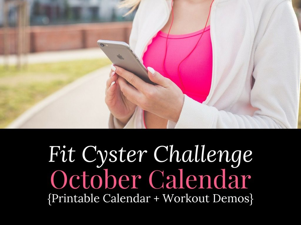 PCOS Workouts: October Fit Cyster Challenge Calendar + Exercise Demonstrations